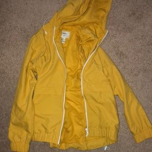 Forever 21 yellow rain jacket